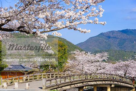Arashiyama, Kyoto, Japan in the spring season.