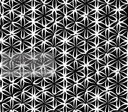 Flower of Life, seamless pattern for your design, vector illustration