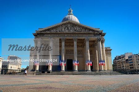 Pantheon in Paris at summer day, France