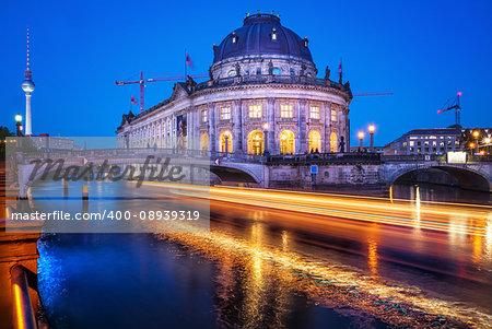 bode museum at night, berlin