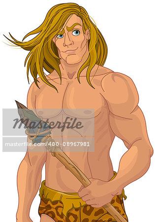 Illustration of Tarzan the ape man