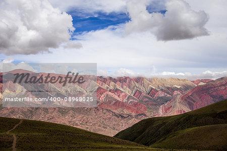 Serranias del Hornocal, wide colored mountains, Argentina