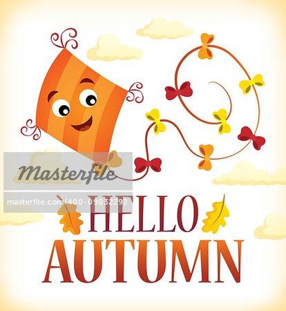Hello autumn theme image 2 - eps10 vector illustration.