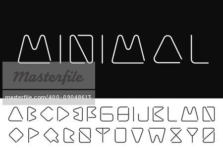 Thin minimalistic font. Creative english alphabet. Futuristic design