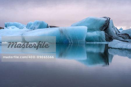 Glacier in Iceland, glacial lake