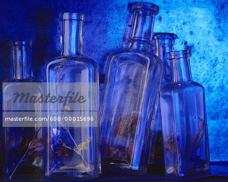 Dried Flowers in Bottles