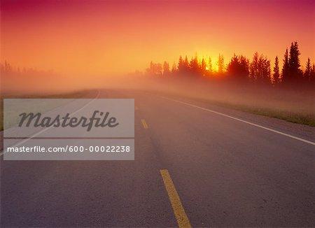 Highway #1 at Sunrise Near Enterprise Northwest Territories, Canada