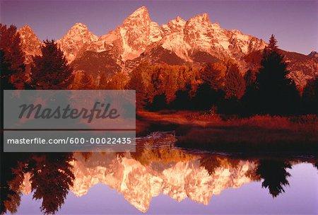 Mountains, Trees and Lake Teton, Wyoming, USA
