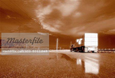 Truck on Highway 17 Ontario, Canada