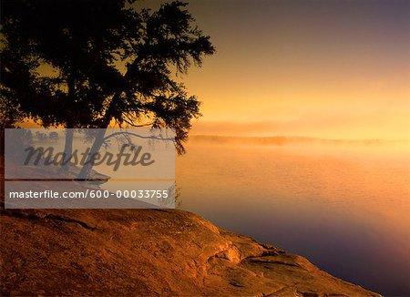 Caddy Lake at Sunrise Whiteshell Provincial Park Manitoba, Canada