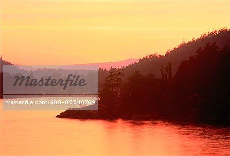 Fulford Harbour at Sunset Salt Spring Island British Columbia, Canada