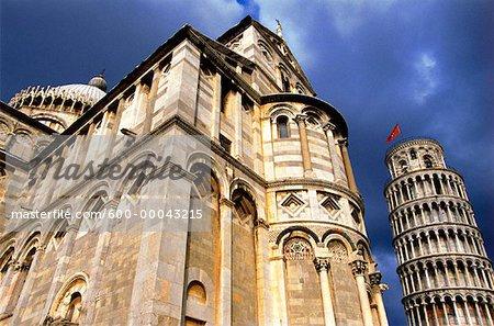 Duomo and Tower or Pisa Pisa, Tuscany, Italy