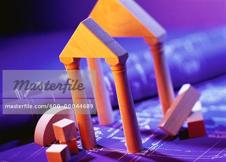 Architectural Building Blocks on Blueprints