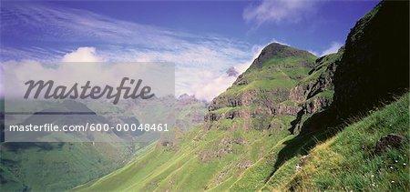 Mountain Range Cathedral Peak, Drakensberg, Kwazulu Natal, South Africa