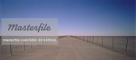 Veterinary Fence, Ntwetwe Pan, Botswana, South Africa