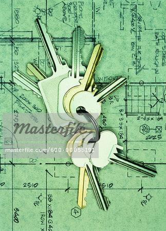 Keys on Floor Plans