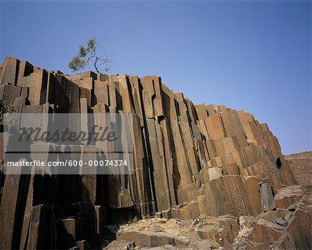 Organ Pipe Rocks near Outjo and Brandberg, Damaraland, Namibia