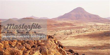 Overview of Arid Landscape, Damaraland, Namibia