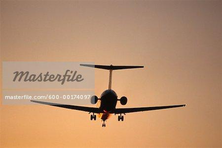 DC-9 Departure at Dusk
