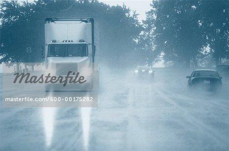 Traffic in Rain