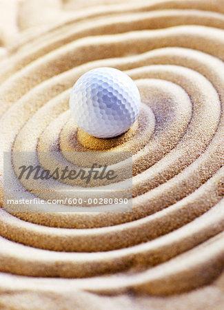 Golf Ball in Sand