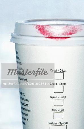 Lipstick on Coffee Cup