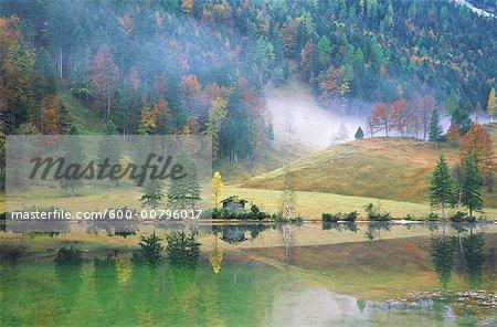 Autumn at Ferchensee, Bavaria, Germany
