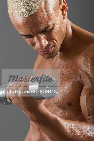 Man Doing Bicep Curl