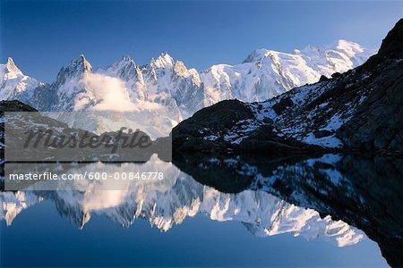 Aiguilles de Chamonix and Lac Blanc, Rhone-Alpes, Chamonix, France
