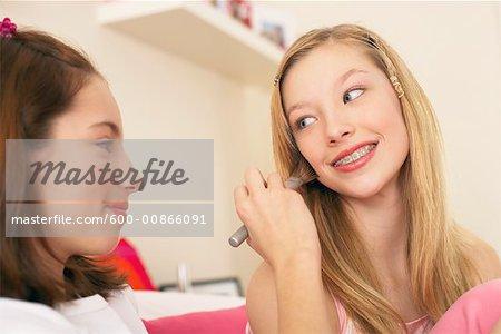 Girl Doing Friend's Make-up