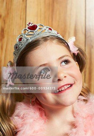 Portrait of Girl Dressed As Princess