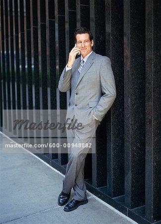 Businessman Using Cellular Phone