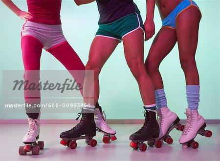 People Roller Skating