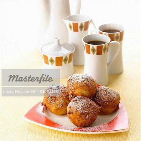 Sour Cream Doughnuts and Coffee