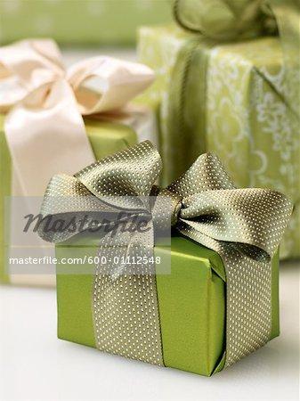 Close-up of Presents