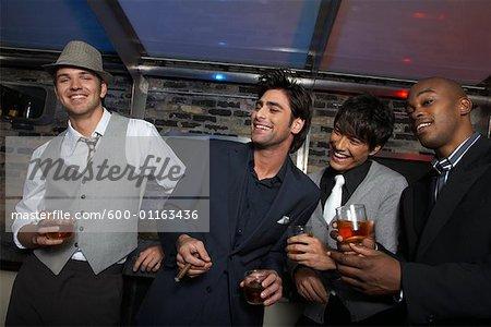 Portrait of Men at a Bar