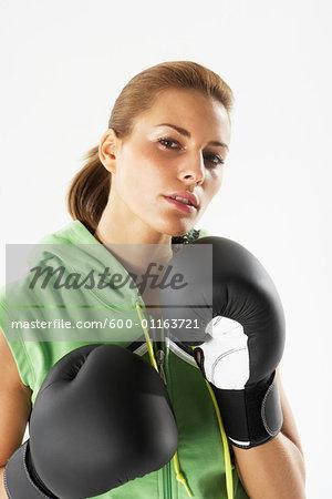 Woman Boxing