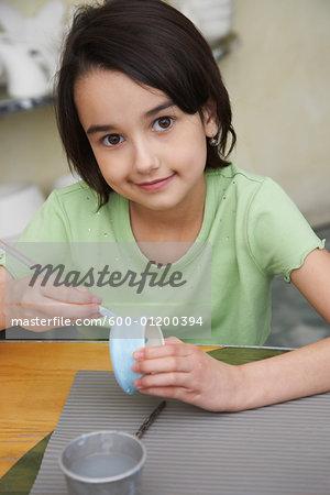 Portrait of Girl in Pottery Studio