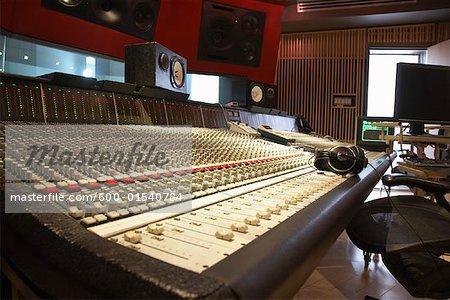 Mixer in Recording Studio