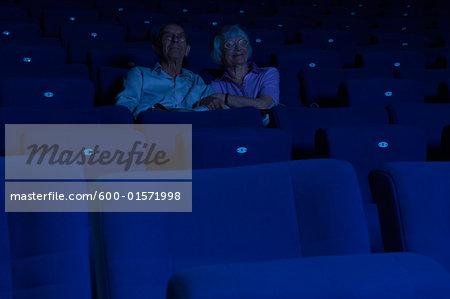 Couple in Movie Theatre