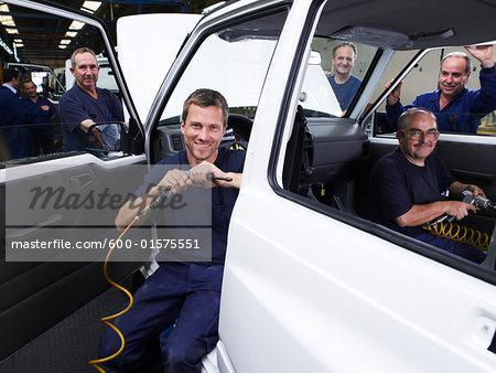 Portrait of Automotive Workers