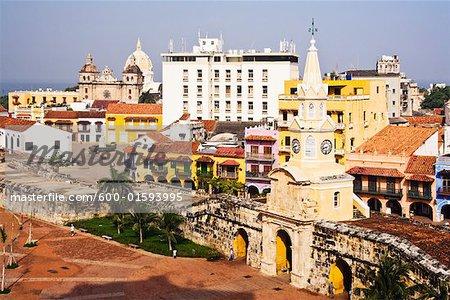 Plaza de los Coches and Puerta de Reloj, Cartagena, Colombia