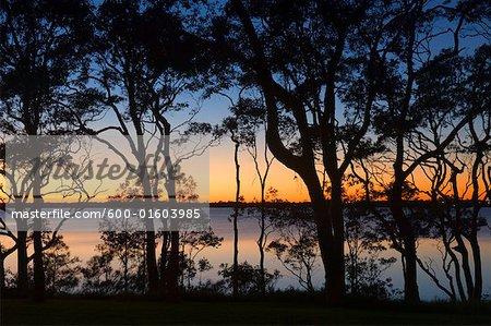Sunset at Lake Macquarie, New South Wales, Australia