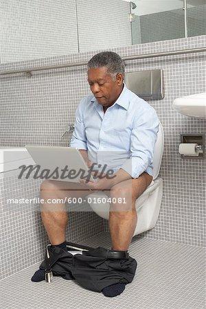 Man in the Washroom