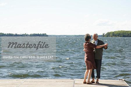 Couple Dancing on Dock