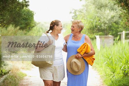 Women Walking On Path