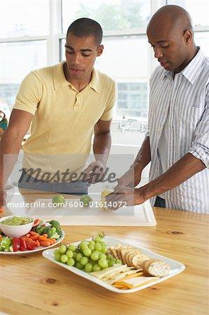 Men Preparing Food