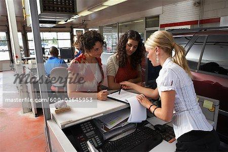 Women in Service Station