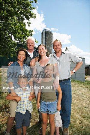 Portrait of Farm Family
