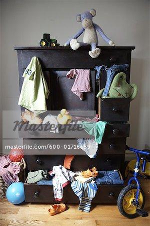 Messy Child's Dresser
